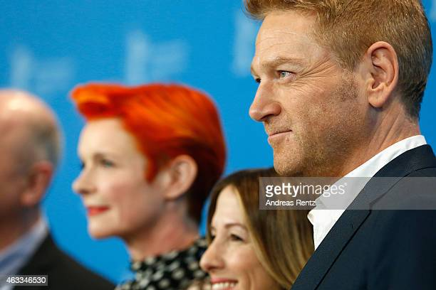Costume designer Sandy Powell producer Alli Shearmur and director Kenneth Branagh attend the 'Cinderella' photocall during the 65th Berlinale...