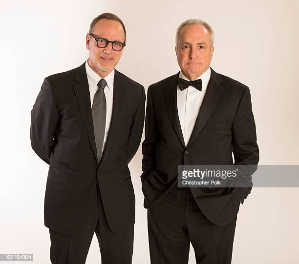 Costume Designer Tom Broecker and Producer Lorne Michaels pose for a portrait during the 15th Annual Costume Designers Guild Awards with presenting...