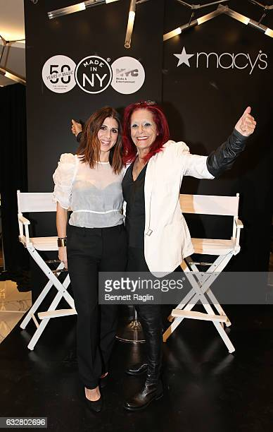 Costume designers Jacqueline Demeterio and Patricia Field attend the Macy's CelebratesThe 50th Anniversary Of The Mayor's Office Of Media And...