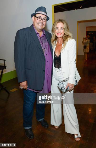 Costume designers Salvador Perez and Allyson B Fanger attend the media preview of the 11th annual 'Art Of Television Costume Design' exhibition at...