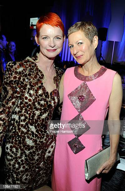 Costume designers Sandy Powell and Lou Eyrich attend the 14th Annual Costume Designers Guild Awards With Presenting Sponsor Lacoste held at The...