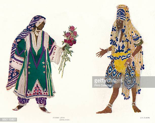 'Costume Designs for the Russian Ballet Le Dieu Bleu' c1912 From The Studio Volume 60 [The Offices of the Studio London 191314]