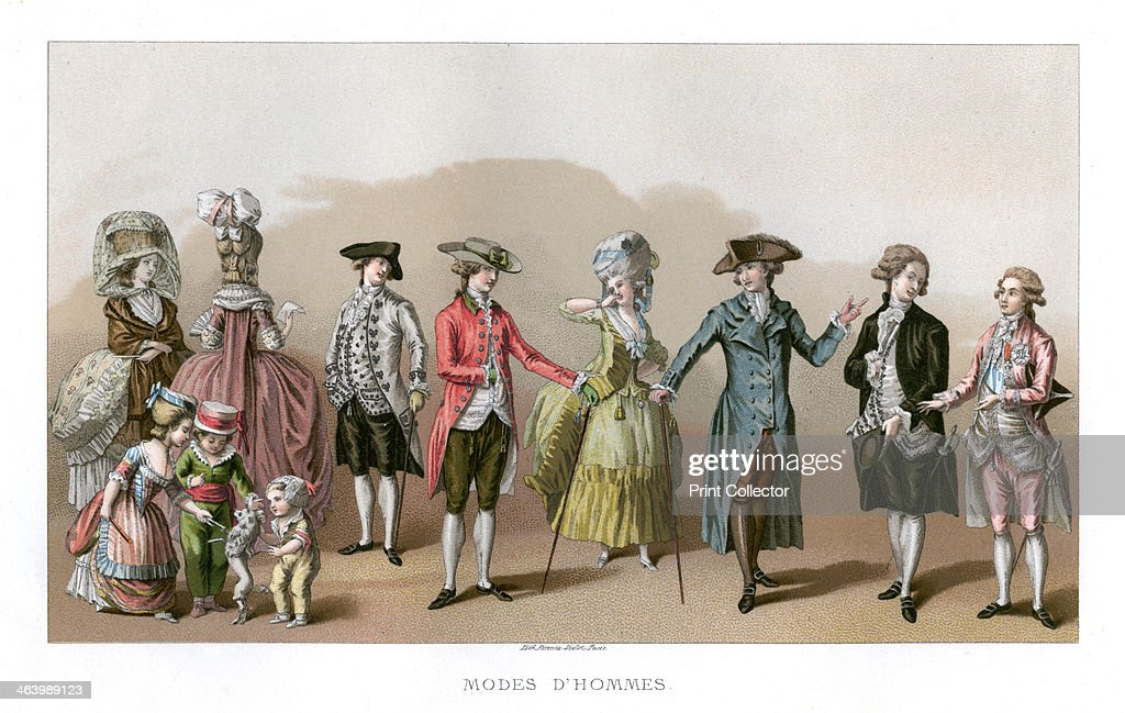 Costume During The Time Of Louis XVI (1885). Louis XVI was king  sc 1 st  Getty Images & Costume During The Time Of Louis XVI (1885). Artist: Durin Pictures ...