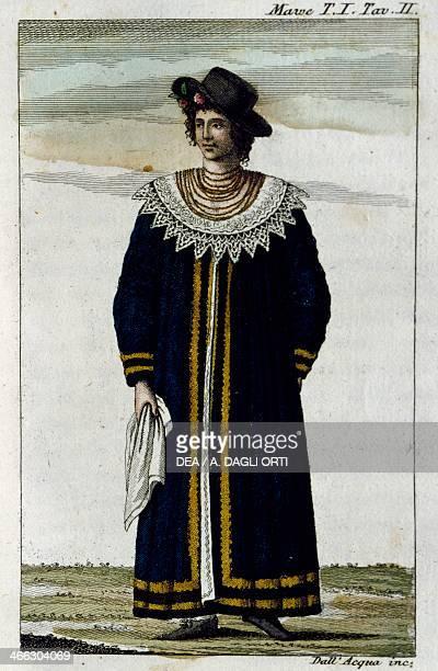 Costume of the Pauliste illustration from Viaggio nell'interno del Brasile e particolarmente nei distretti dell'oro e dei diamanti fatto nel 18091810...