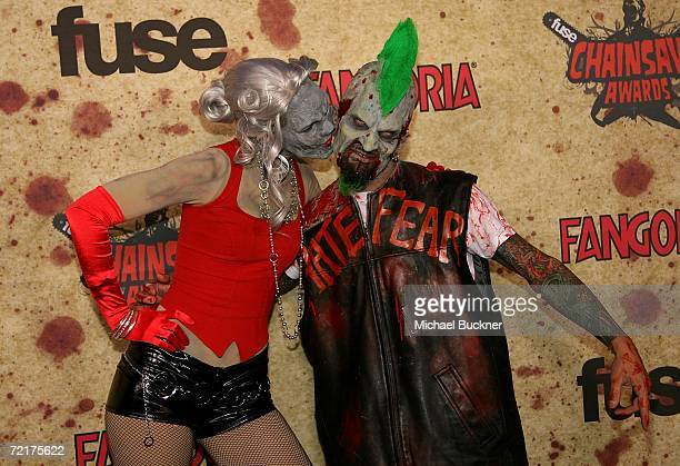 Costume performers walk the carpet at the fuse Fangoria Chainsaw Awards at the Orpheum Theater on October 15 2006 in Los Angeles California The...