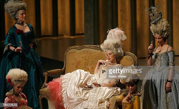 TELECAST*** Costume sets from Marie Antoinette is seen onstage during the 79th Annual Academy Awards at the Kodak Theatre on February 25 2007 in...