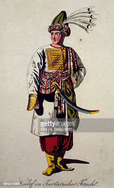 Costume sketch for Calaf as Tartar in Turandot opera by Giacomo Puccini Vienna Historisches Museum Der Stadt Wien