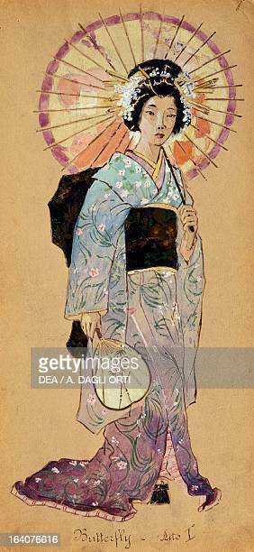 Costume sketch for Madama Butterfly opera by Giacomo Puccini Milan Museo Teatrale