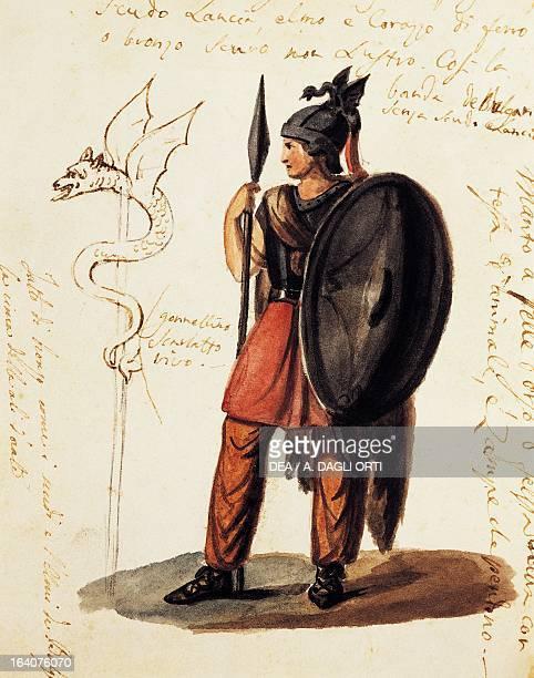 Costume sketch for the opera Belisario by Gaetano Donizetti Naples Museo Storico Musicale