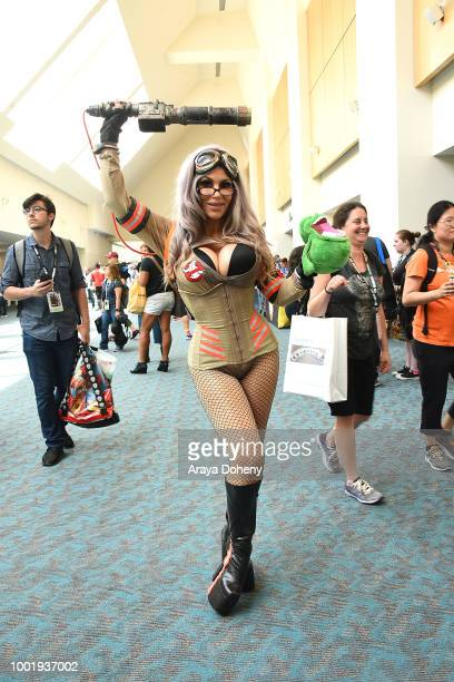 Costumed cosplayer attend 2018 ComicCon International on July 19 2018 in San Diego California
