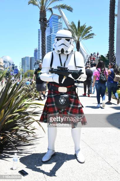 Costumed cosplayers at ComicCon International on July 19 2019 in San Diego California