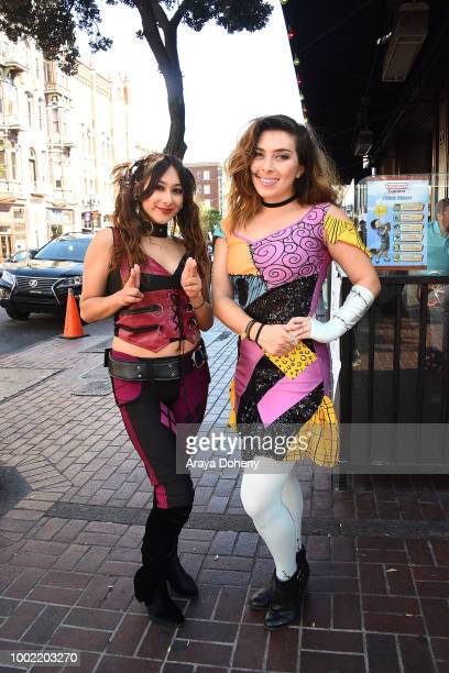 Costumed cosplayers attend 2018 ComicCon International on July 19 2018 in San Diego California