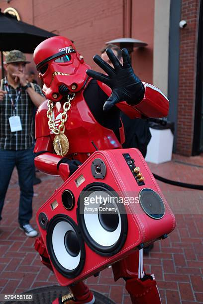 Costumed Cosplayers attend ComicCon International 2016 on July 24 2016 in San Diego California