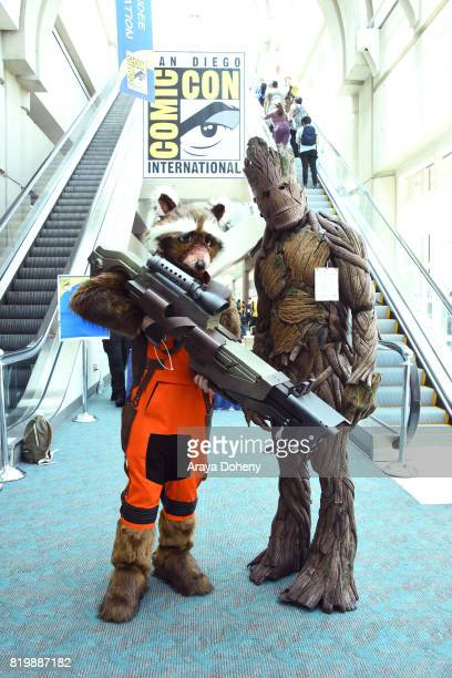 Costumed cosplayers attend Comic-Con International on July 20, 2017 in San Diego, California.