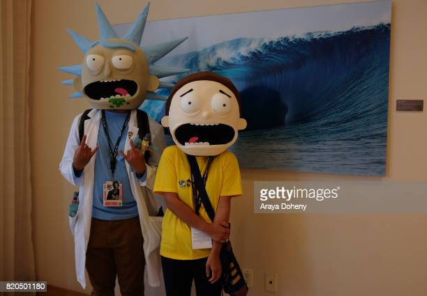 Costumed cosplayers attend ComicCon International on July 21 2017 in San Diego California