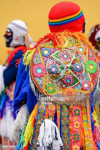 costumed dancers during a traditional celebration. - ogphoto stock photos and pictures