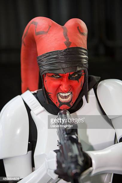 Costumed fan attends Comic-Con International at San Diego Convention Center on July 12, 2015 in San Diego, California.