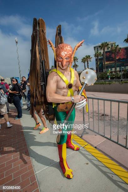 A costumed fan attends ComicCon International Day 2 on July 21 2017 in San Diego California