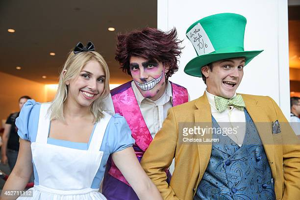Costumed fans are seen at ComicCon International on July 25 2014 in San Diego California