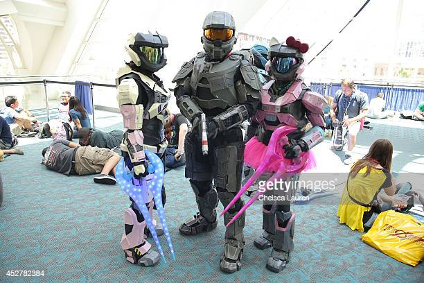Costumed fans attend ComicCon International on July 26 2014 in San Diego California