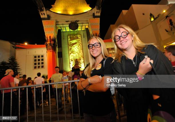 Costumed fans attend the opening night of 'Harry Potter And The HalfBlood Prince' at Grauman's Chinese Theatre on July 14 2009 in Hollywood California