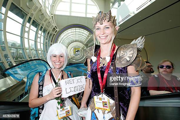 Costumed fans Jennifer Copeland and Katie Bateman attend Comic-Con International at San Diego Convention Center on July 24, 2014 in San Diego,...