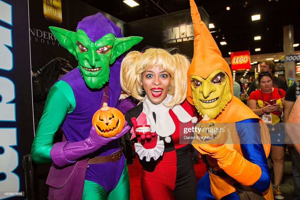 Costumed fans Wade Schnell, Enasi Volz and Nathan Schnell attend Comic-Con International at San Diego Convention Center on July 27, 2014 in San Diego, California.