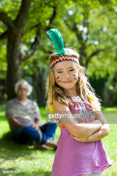 Costumed girl smiling