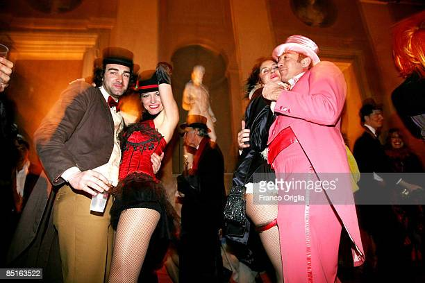 Costumed guests dance during the Villa Medici Carnival party on February 28 in Rome Italy The theme of this year at the French Academy in Rome of...
