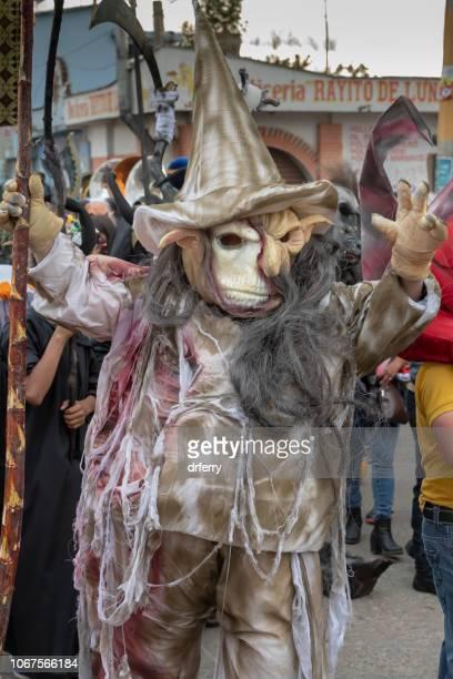 Hag costumée au Día de los Muertos Festival à Xoxocotlán, Oaxaca
