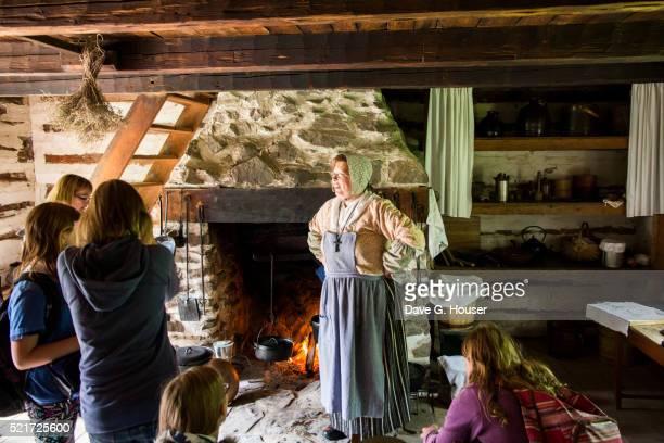 costumed interpreters at village historique acadien, caraquet, new brunswick, canada - historique stock pictures, royalty-free photos & images