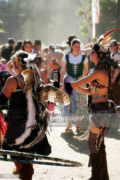 costumed participants at faerie worlds festival- oregon - eugene oregon stock pictures, royalty-free photos & images