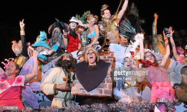 Costumed performers celebrate in the annual Village Halloween Parade October 31 2007 in New York City Approximately 2 million visitors attend the...