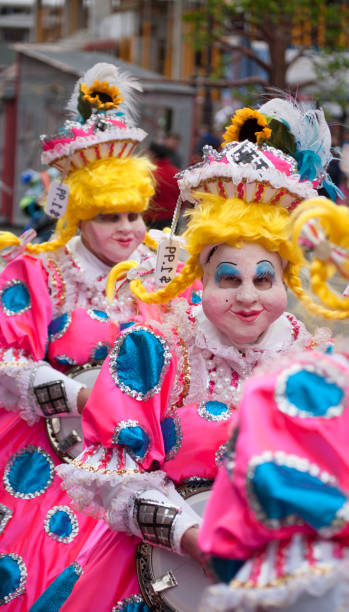 Costumed performers in an annual parade in Philadelphia