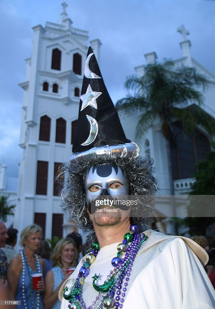 A Costumed Reveler Participates In A Fantasy Fest October   In Key West