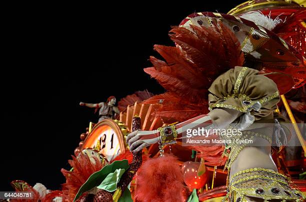 costumed street dancers performing in carnival - brazilian carnival stock pictures, royalty-free photos & images