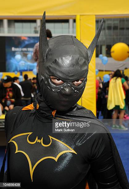 Costumed superhero attends the successfull setting of the Guinness World Record for the Largest Gathering of Superheroes at the celebration of the...