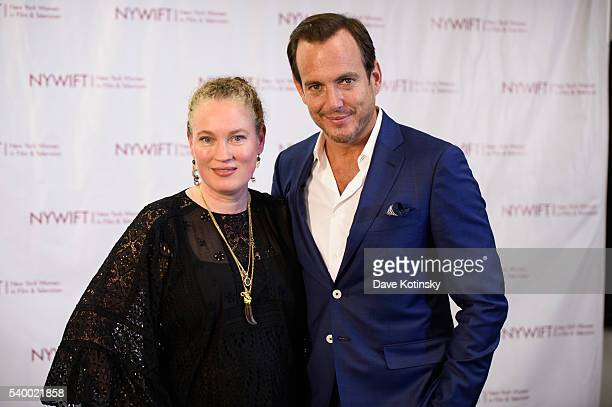 Costumee Designer Sarah Edwards and Will Arnett attend the 2016 New York Women In Film Television's Designing Women Galaat CUNY Graduate Center on...