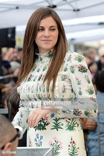 Costumer Courtney Hoffman at Quentin Tarantino's Star Ceremony held on the Hollywood Walk Of Fame on December 21 2015 in Hollywood California