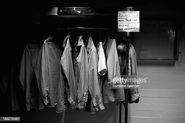 Costumes are seen backstage of the Dame Joan Sutherland Theatre in the Sydney Opera House on October 17 2013 in Sydney Australia On September 20 2013...