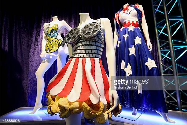 Costumes from Katy Perry's live show are seen at Katy Perry's PopUp shop on November 12 2014 in Melbourne Australia