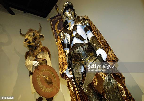 Costumes from the Oscarnominated movie 'Gladiator' are displayed for the media at the Fashion Institute of Design and Merchandising museum gallery in...