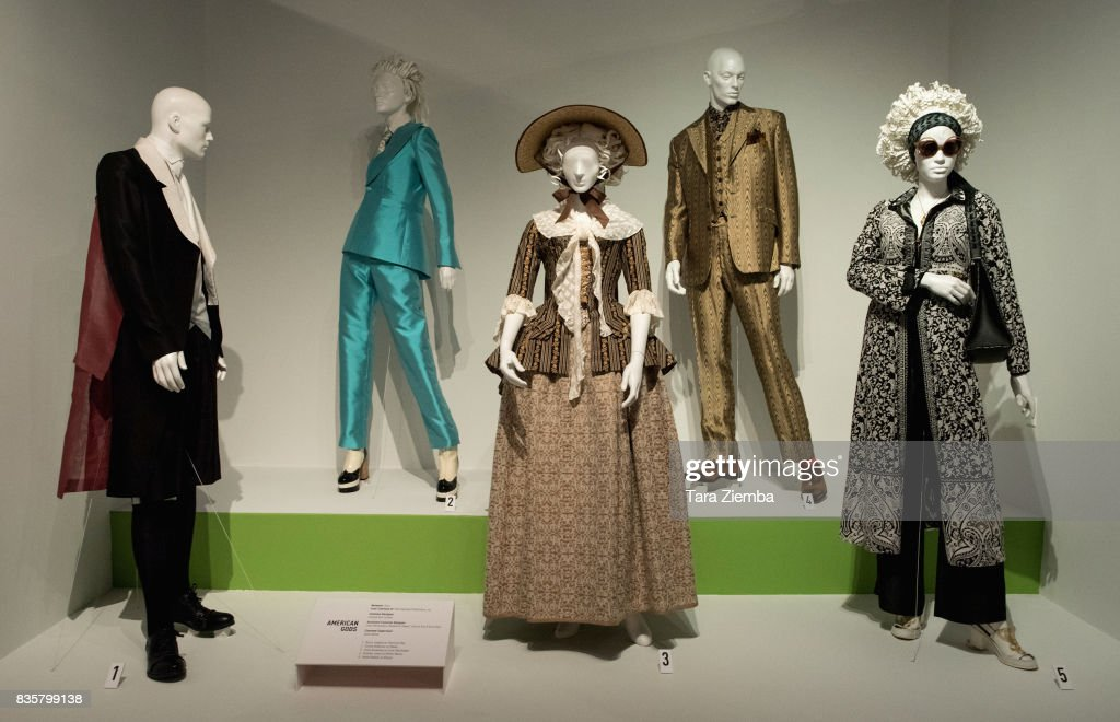 Costumes from the show 'American Gods' on display at the media preview of the 11th annual 'Art Of Television Costume Design' exhibition at FIDM Museum & Galleries on the Park on August 19, 2017 in Los Angeles, California.