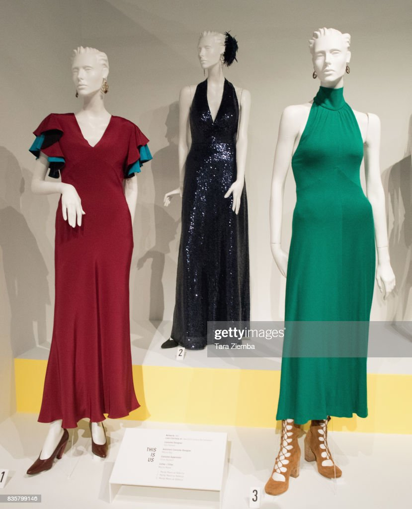 Costumes from the show 'This Is Us' on display at the media preview of the 11th annual 'Art Of Television Costume Design' exhibition at FIDM Museum & Galleries on the Park on August 19, 2017 in Los Angeles, California.