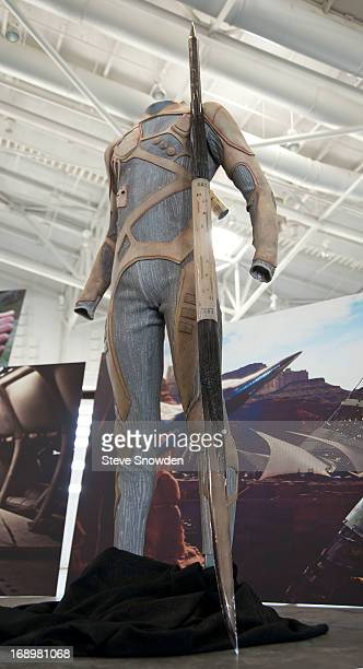 """Costumes from Will Smith's latest film were displayed during Colombia Pictures' """"After Earth"""" Press Junket at Spaceport America on MAY 17, 2013...."""