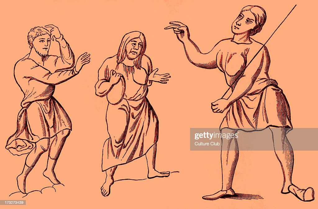 Costumes of slaves or serfs, 6th - 12th century : News Photo