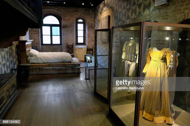 """Costumes used in the movie 'Romeo and Juliet' by the director Franco Zeffirelli are displayed in Via Cappello 23 which is today known as """"Juliet's..."""