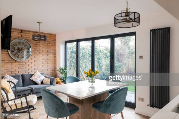 cosy home interior - living room stock pictures, royalty-free photos & images