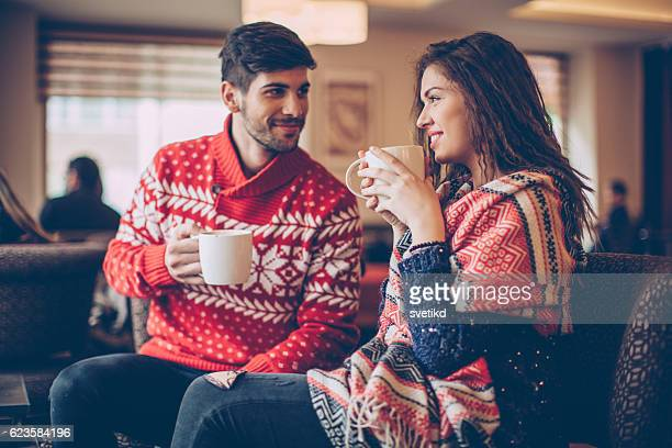 cosy winter dating - hot love stock pictures, royalty-free photos & images