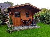Cosy wooden garden shed